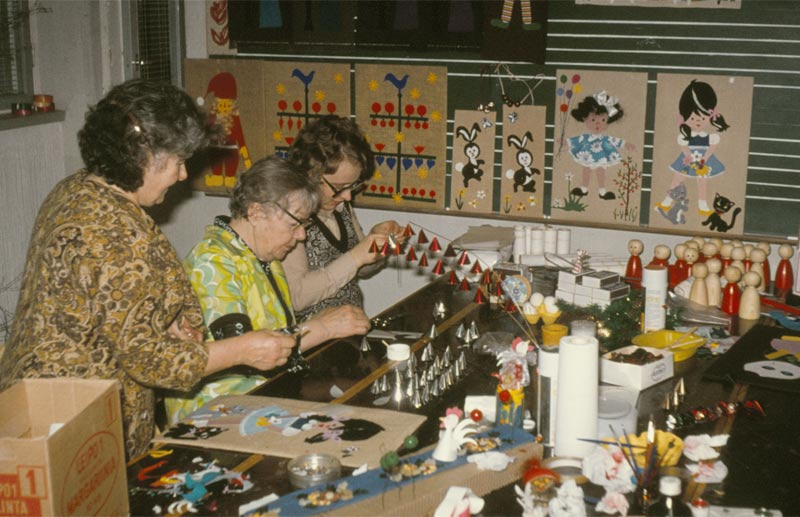 En hobbykurs hölls under sportlovet 5-9 mars 1975.