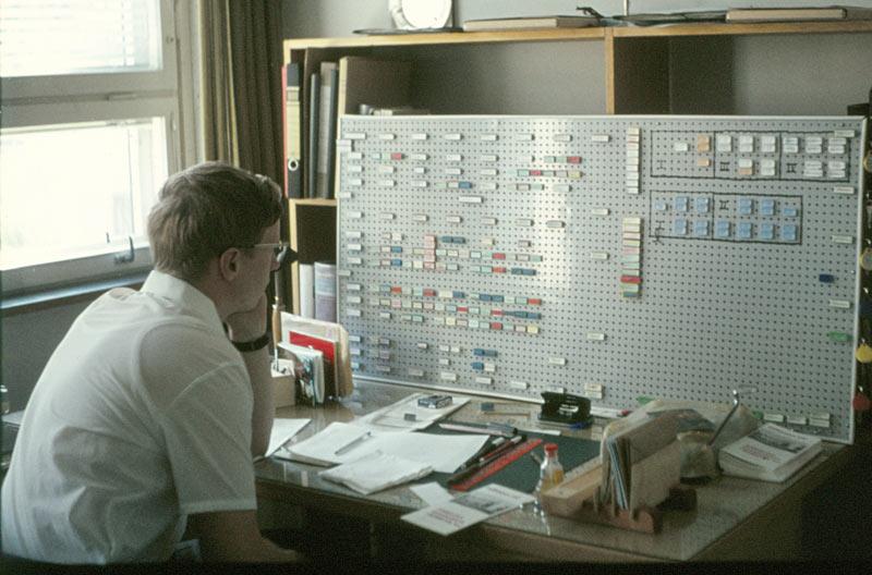 Pusselarbetet med läsordningen var en av mina första utmaningar. Bilden togs 21.8.1970.