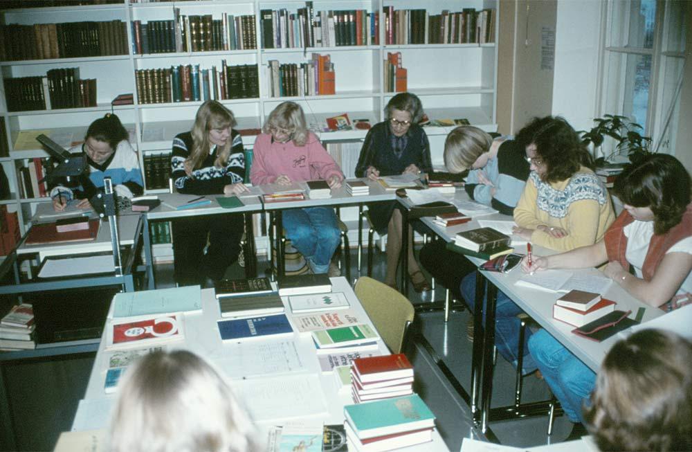 En bibelkurs i Novum läsåret 1981-82.