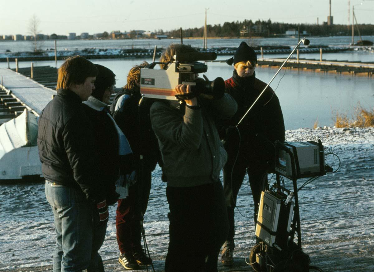 En bild från inspelningen för videon som gjordes 1982-83.