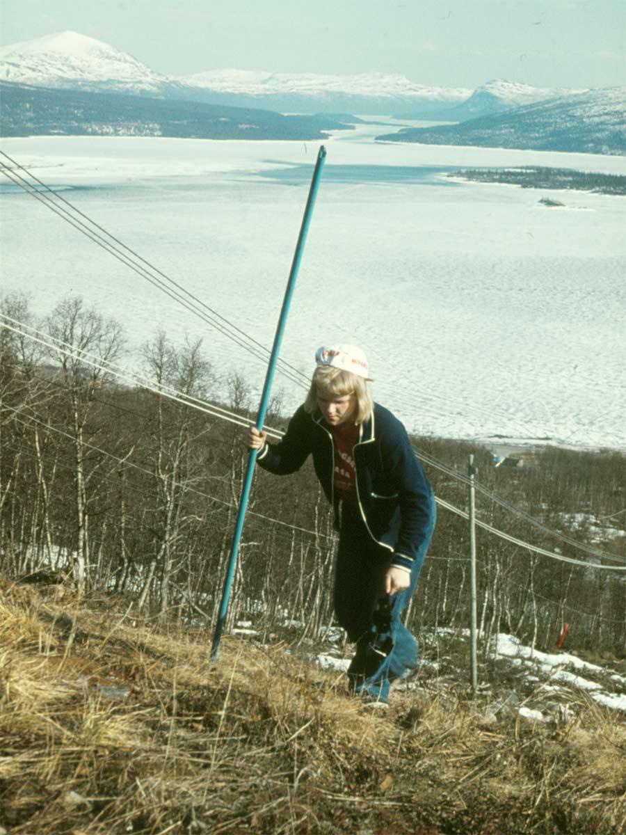 Marianne var en av dem som kämpade sig uppför Ingemarsbacken.