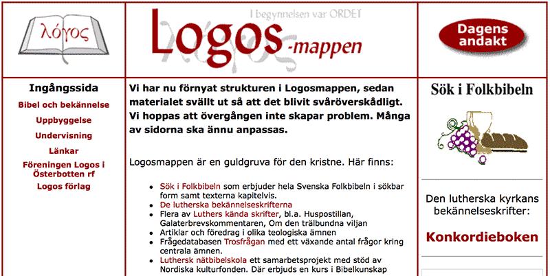 Version 2 av Logosmappen, början av 00-talet.